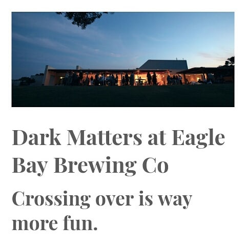 DARK MATTERS We are super excited to be joining forces with @eaglebaybrewingco to create an experimental coffee beer! Launching July 13th at Dark Matters - a night of coffee inspired eats and drinks. Tickets available from @cabinfever_au . #thecapeeffect #eaglebaybrewingco