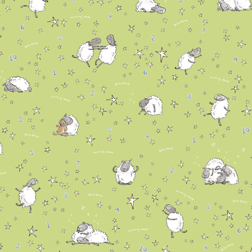 "go to sleep, counting sheep - background colour ""fields"""