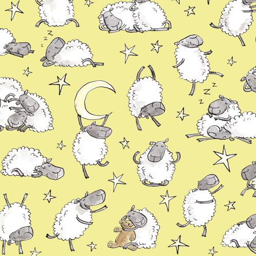 "sheepstars - background colour ""lemons"""