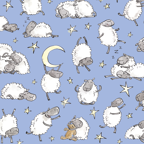 "SHEEP STARS - background colour "" blue skies"""