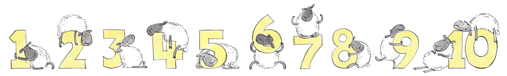 "Count to 10 sheep - colour ""lemons"""