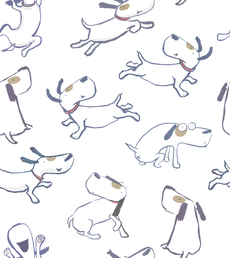 Dog Repeat Tile Transparent