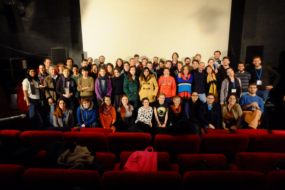 Participants, mentors and organisers from Exposure 2016 at cinema OBLO