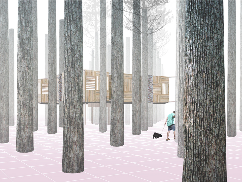 Archtriumph, Treehouse design competition. Project Team: Anika Kalotay & Melissa Soh, Aim: A highly conceptual and relevant stab at a solution for 'better' living. Courtesy Serena Pangetsu