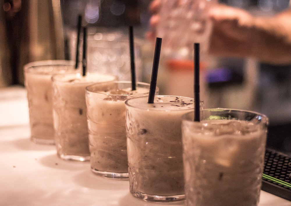 Fjording Colada, in the style of Daniel Diaw and the Hoven Loen bartender team.