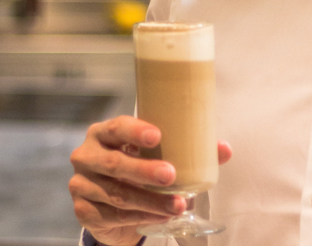 Our professional customer,  Hoven Restaurant , called the drink Fjording Macchiato.