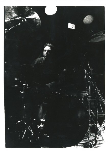Nick behind the kit. (photographer unknown)