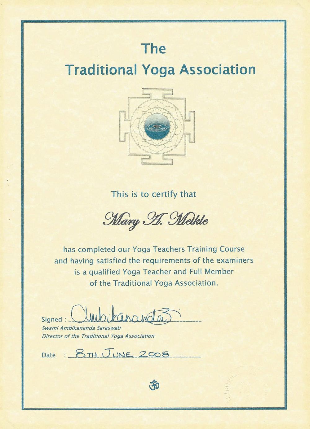 TYA teaching certificate