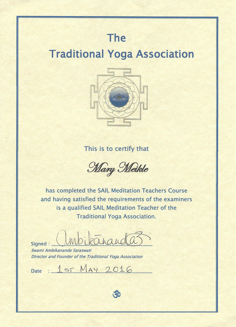 About Me Mary Meikle Yoga
