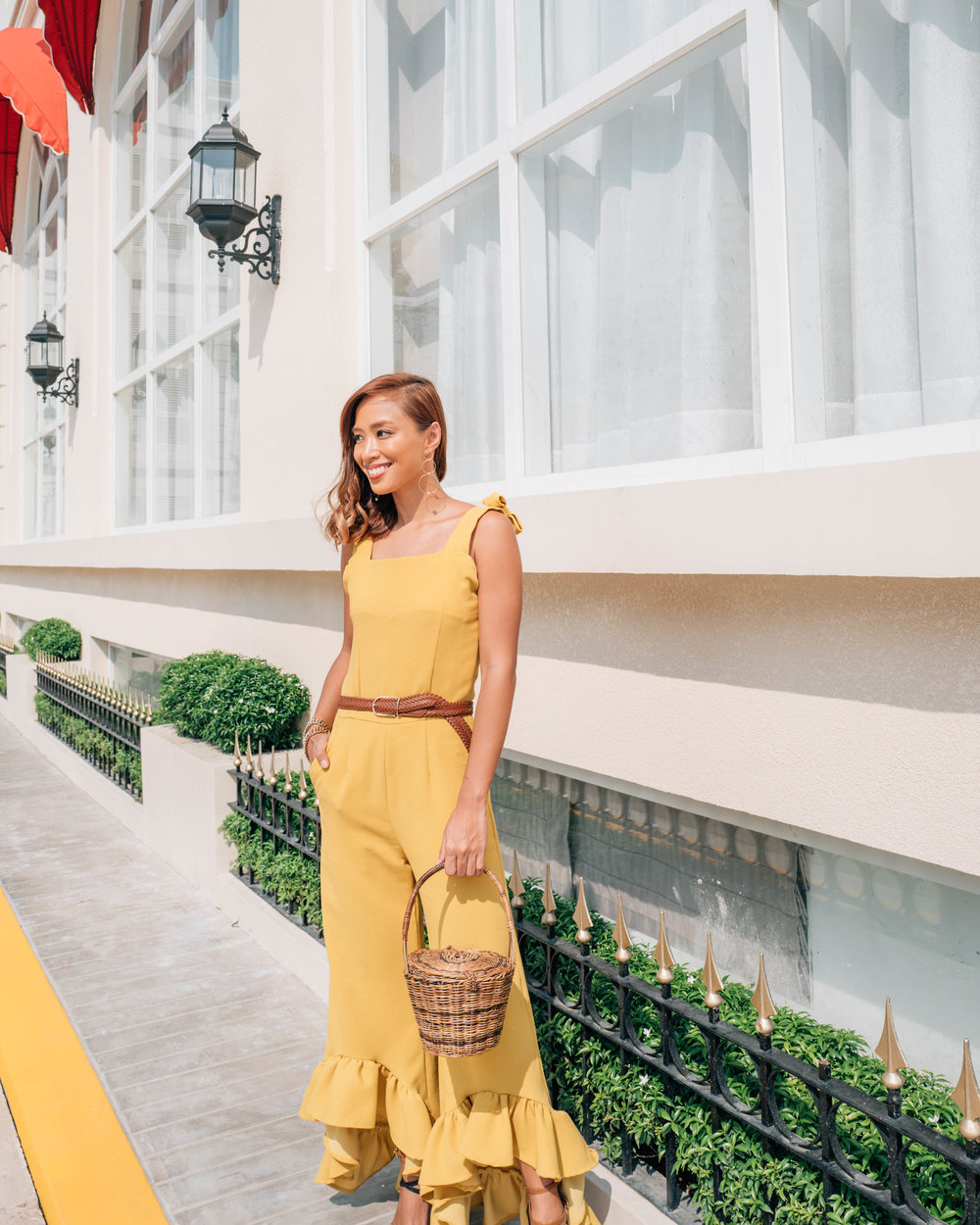 Jumpsuit from Luxe Saint, Belt from SM Accessories