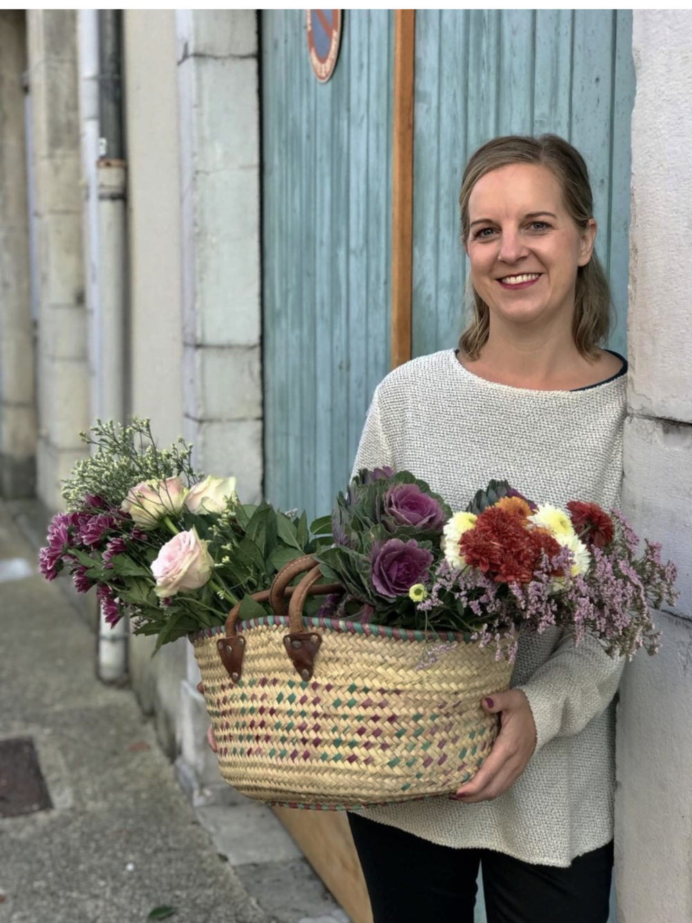 "Organizer and host, Veronica Charlott, at a local french market. ""The Montfort Experience, October 2018."""
