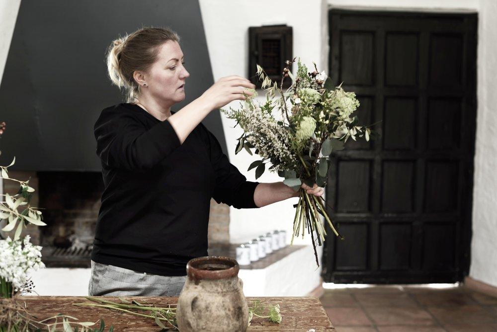 "Linda Hansson, @arstidensbasta, bjuder på blomsterinspiration på ""Andalusian Spring Gathering"" 2018."