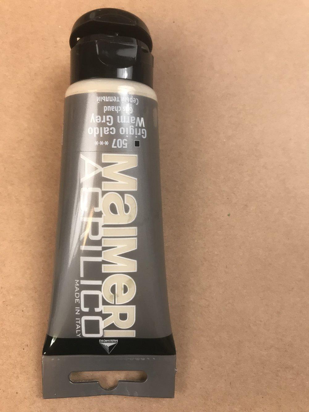 Warm Grey  -  Titanium White PW6, Yellow Iron Oxide and Mars Black PBK11
