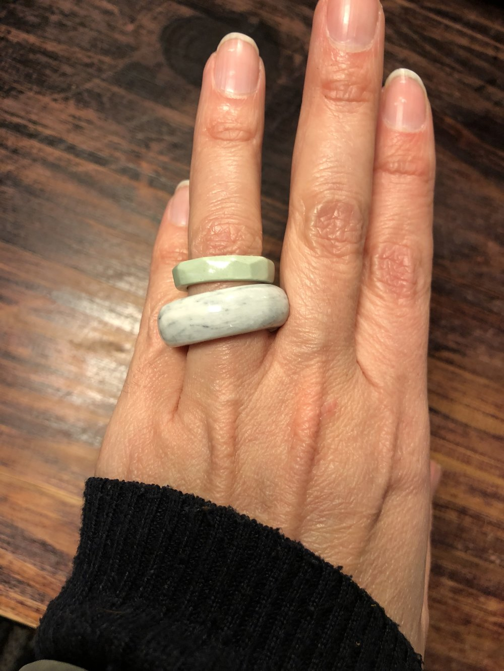 Sharon's Porcelain rings