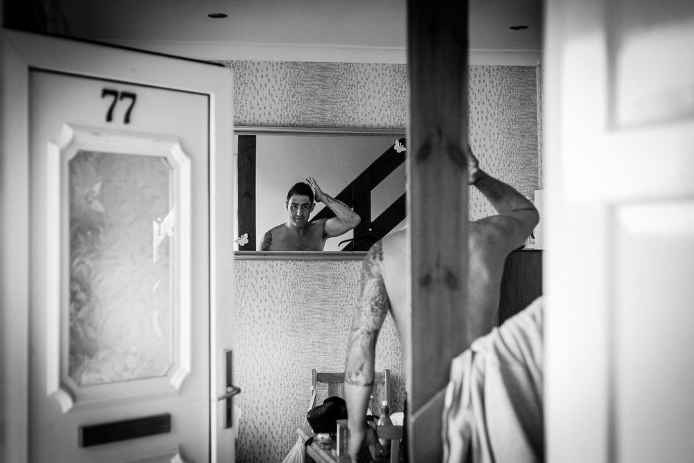 Chris Carmichael before his wedding