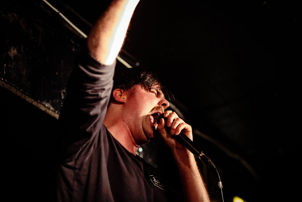 Black Peaks @ King Tuts Wah Wah Hut, Glasgow // photograph by Calum McMillan