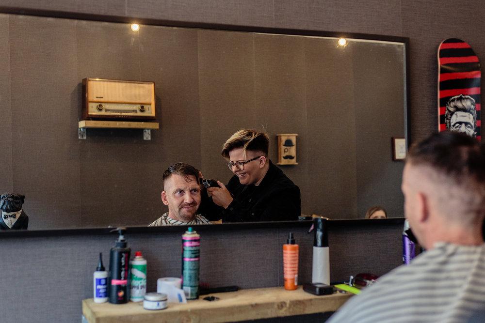 Barber and Groom, Gourock promo shoot / Jan 2017