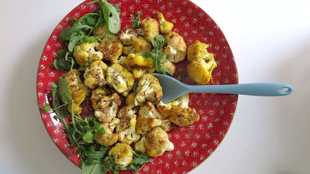 Yummy turmeric roasted cauliflower recipe