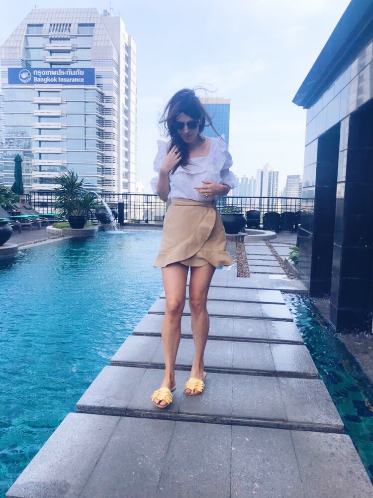 Fashion luxe style, cute yellow sandals