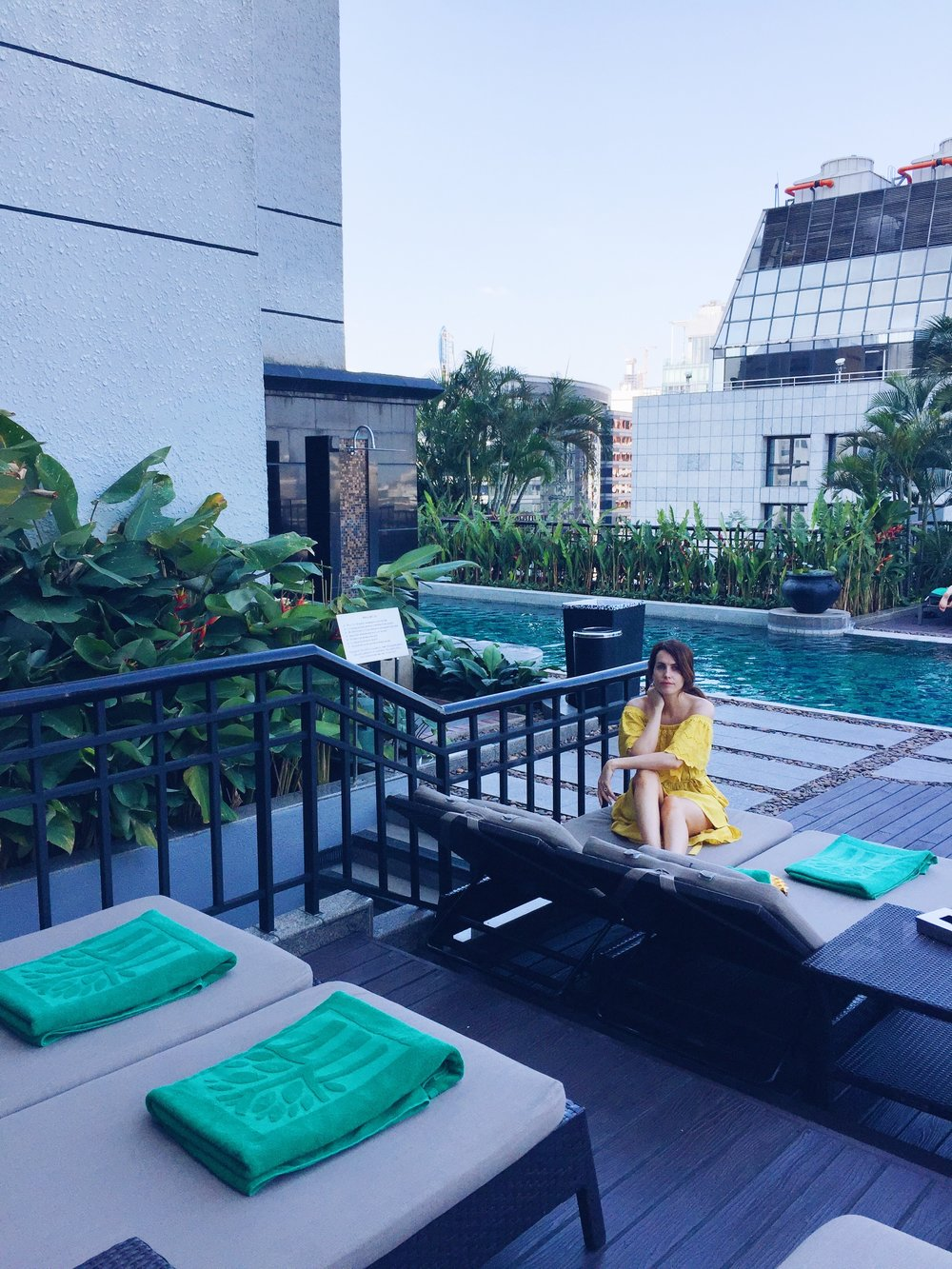 cute yellow dress, Holly White, Banyan tree hotel, Bangkok