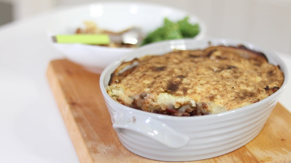 vegan Shepards pie, holly white