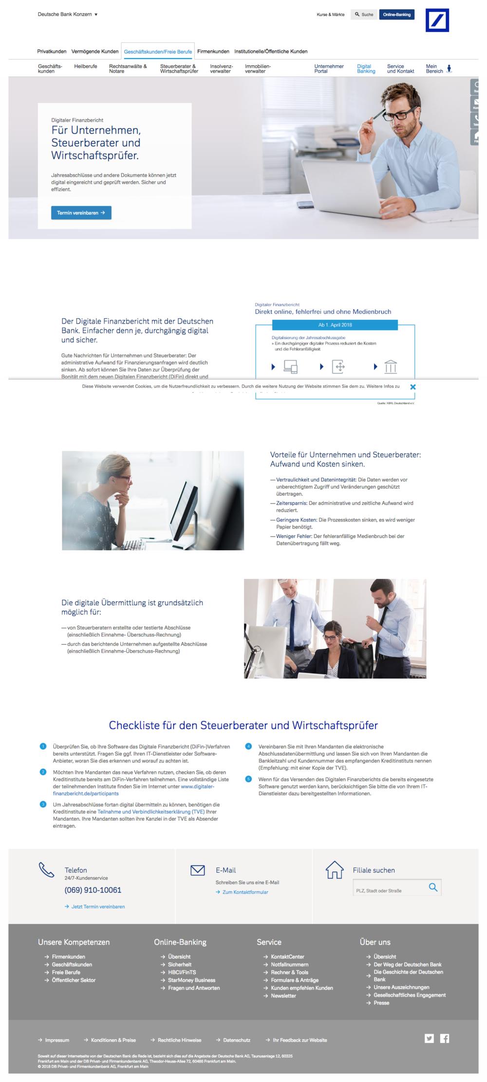 Andreas Richter Texter Landing Page Digitaler Finanzbericht Deutsche Bank.png