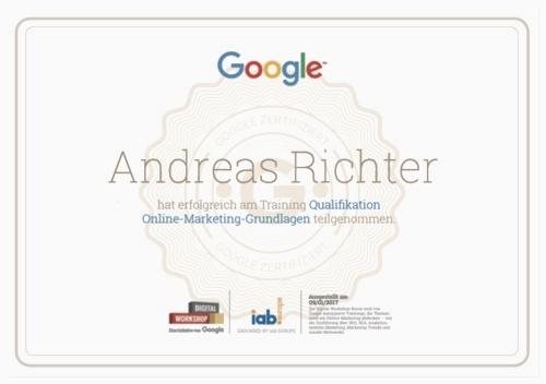 Google sagt ja zu Andreas Richter (rankt ihn aber etwas zu niedrig)