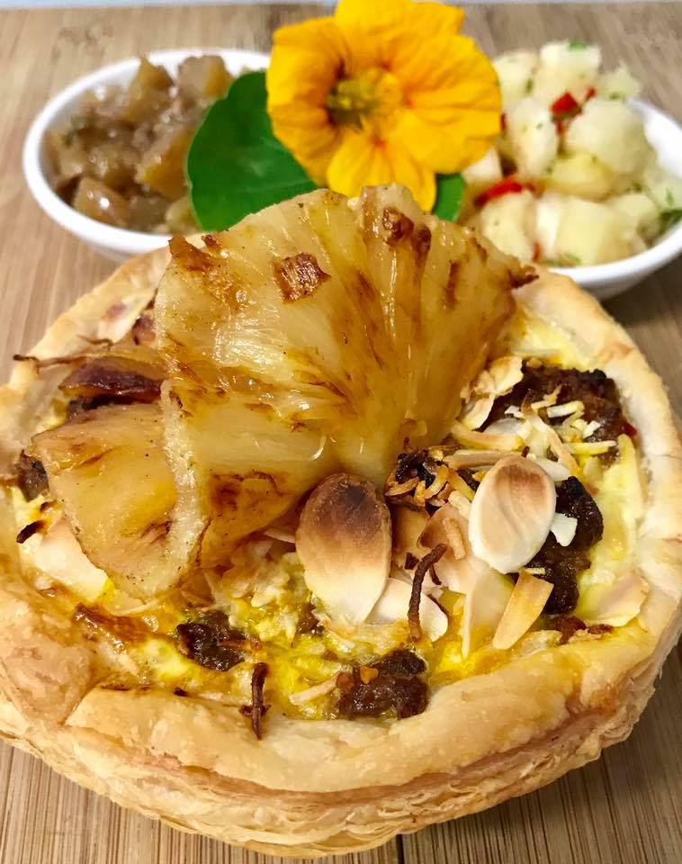 The Tropical Bobotie Pie By Flour Cafe Pure Gold Pineapples