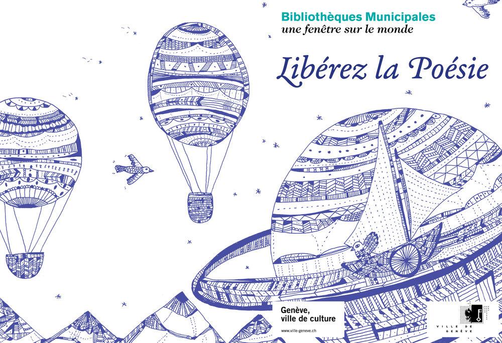 *Libérez la Poésie*, graphisme et illustration pour les Bibliothèques Municipales