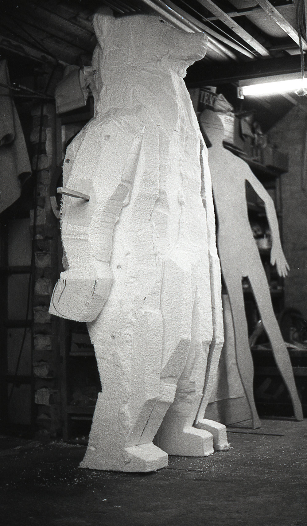 - A polystyrene sculpt was used to symulate the over size of ` Banana Paul`