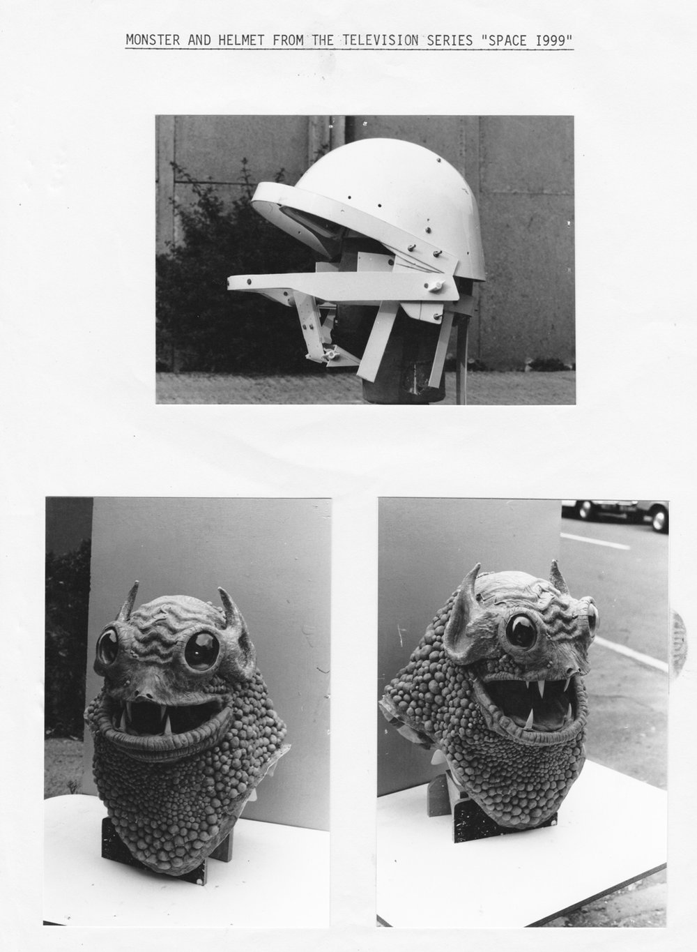 Internal support frame - As Latex can be quite heavy when built up into the Monster, a support framework, fitting either the head or shoulders, can assist the actor to perform more convincingly.With this monster, Andrew made a support frame from one of the Rebel helmets he made for Star Wars ( A New Hope).The monster's mouth movement was articulated from the jaw of the actor by the use of lightweight ABS plastic components.