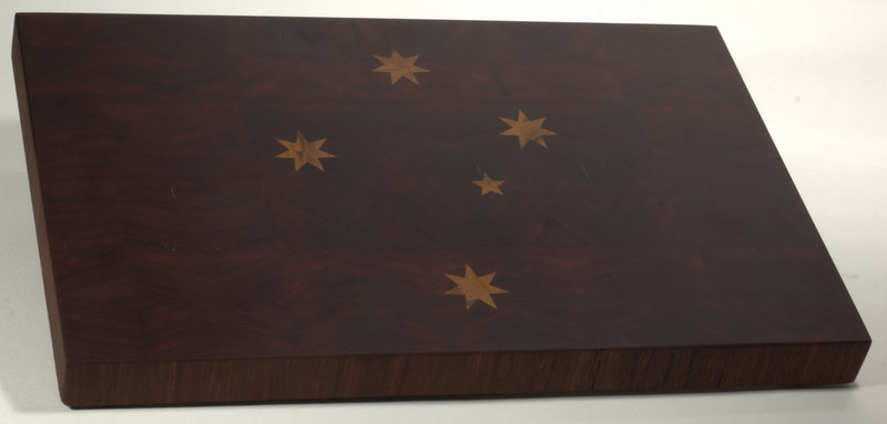 Jarrah Board with Marri Inlay