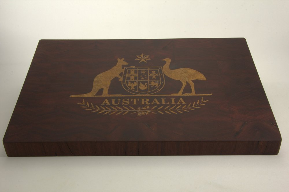 Jarrah Board with Tasmanian Oak Inlay