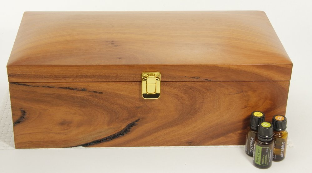 Jarrah Chest with gold buckle