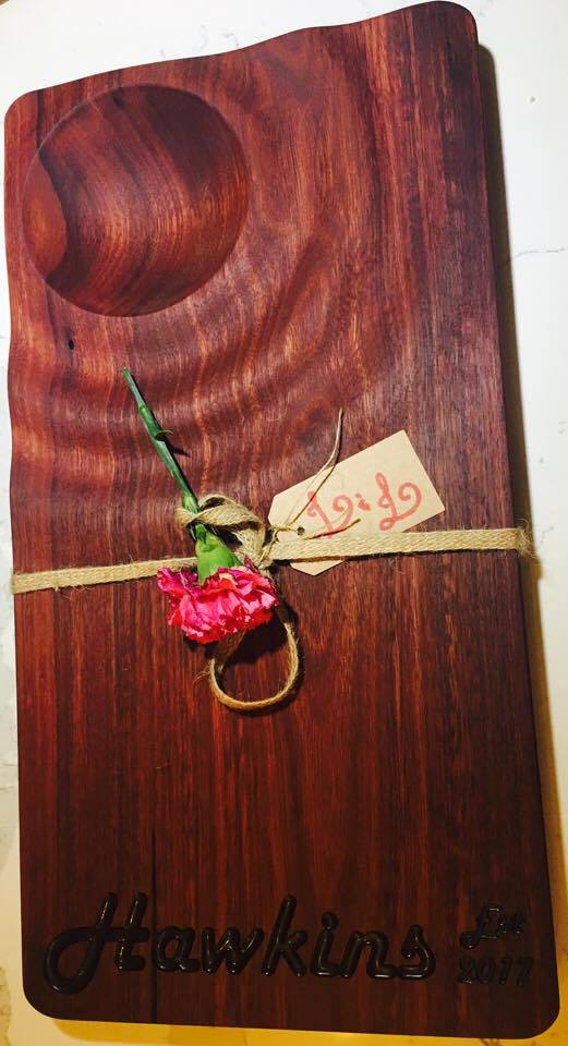 Jarrah Board with inlay