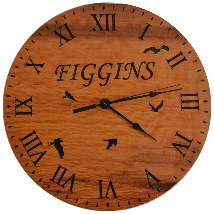 Jarrah Family Clock with birds