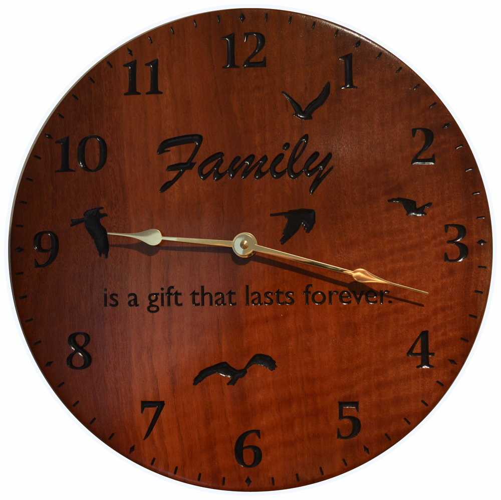 Jarrah Family Clock
