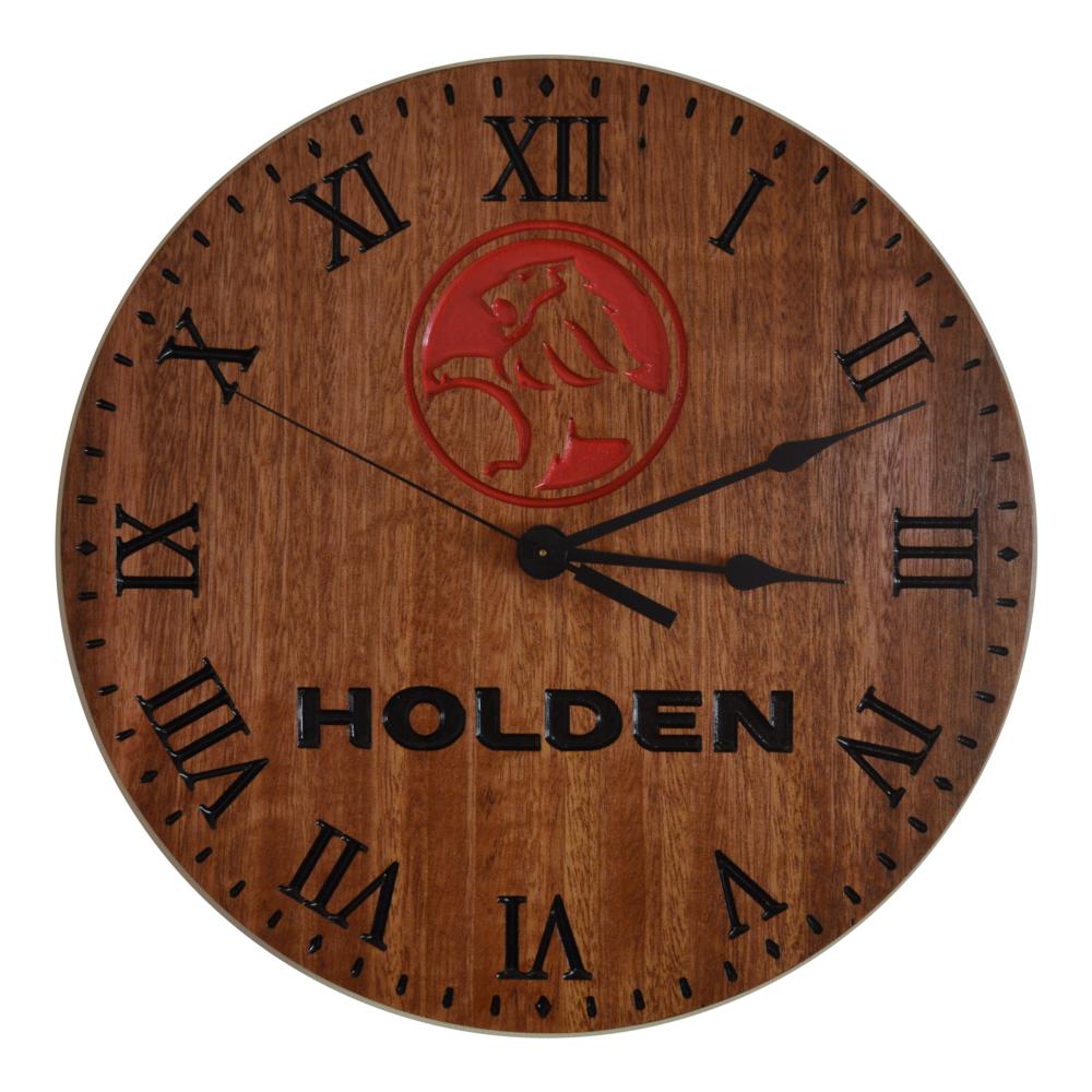 Light Jarrah Holden Clock