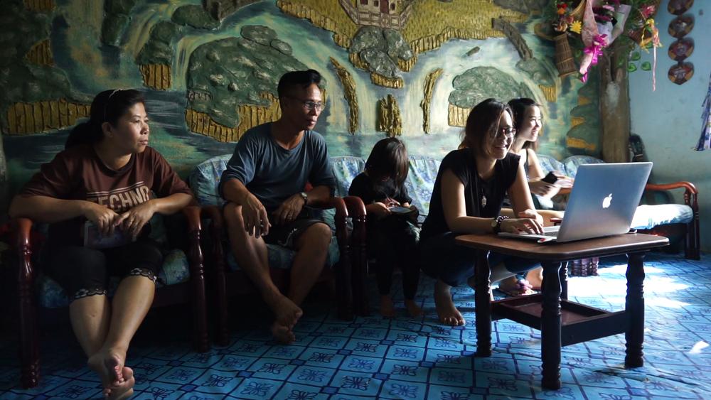 Behind the Scenes on Big Stories Bongkud-Namaus. Photo by Mahira Khairia.