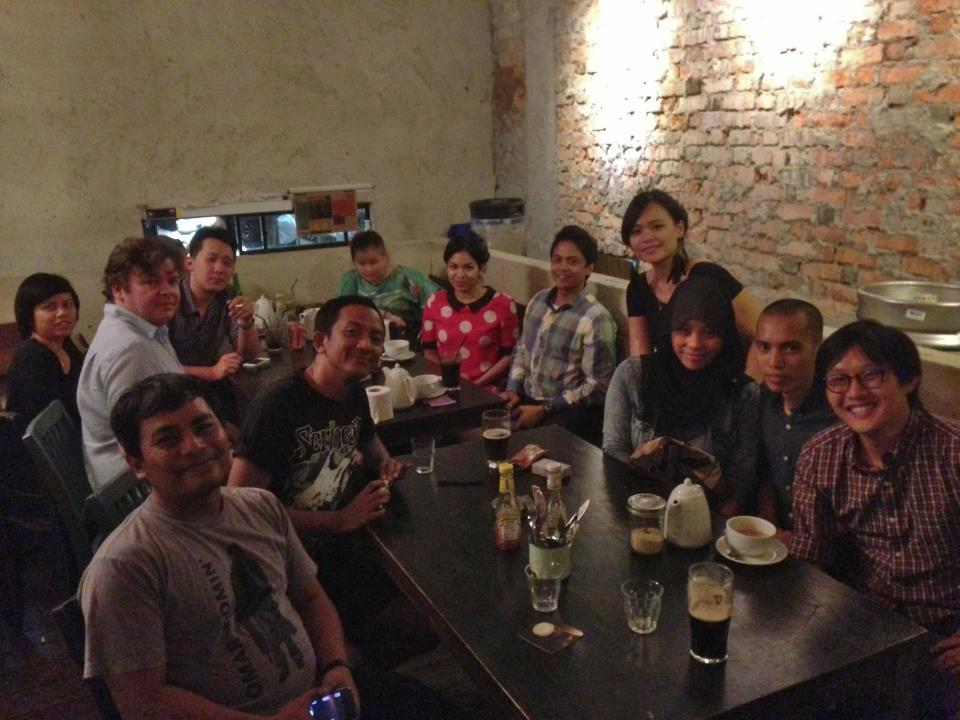 First ever Working Title Film Drinks, January 2013, The Bee, Publika. Hosted by Nadira Ilana.