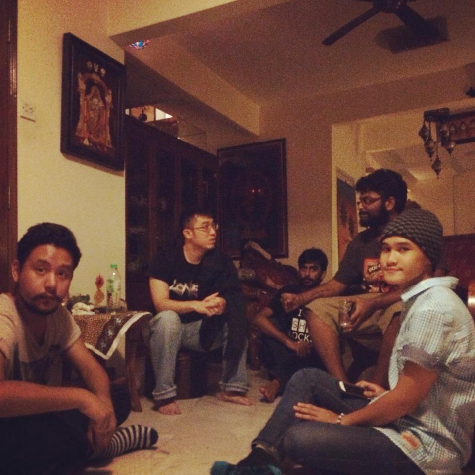 Short film screening at the home of Satpal Kaler.