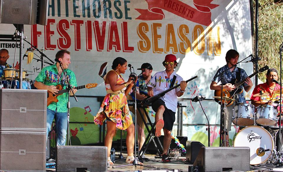 Dave playing the Whitehorse Festival in 2016 with Jaspora. Definitely some challenging rhythm and groove in Calypso music!