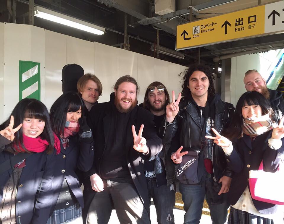 Bumping into some fans on our 2016 Japan tour. Band's can take you to some pretty awesome places with some pretty awesome people!