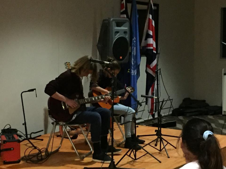 Naz and Salvador (brother and sister) performing live together.