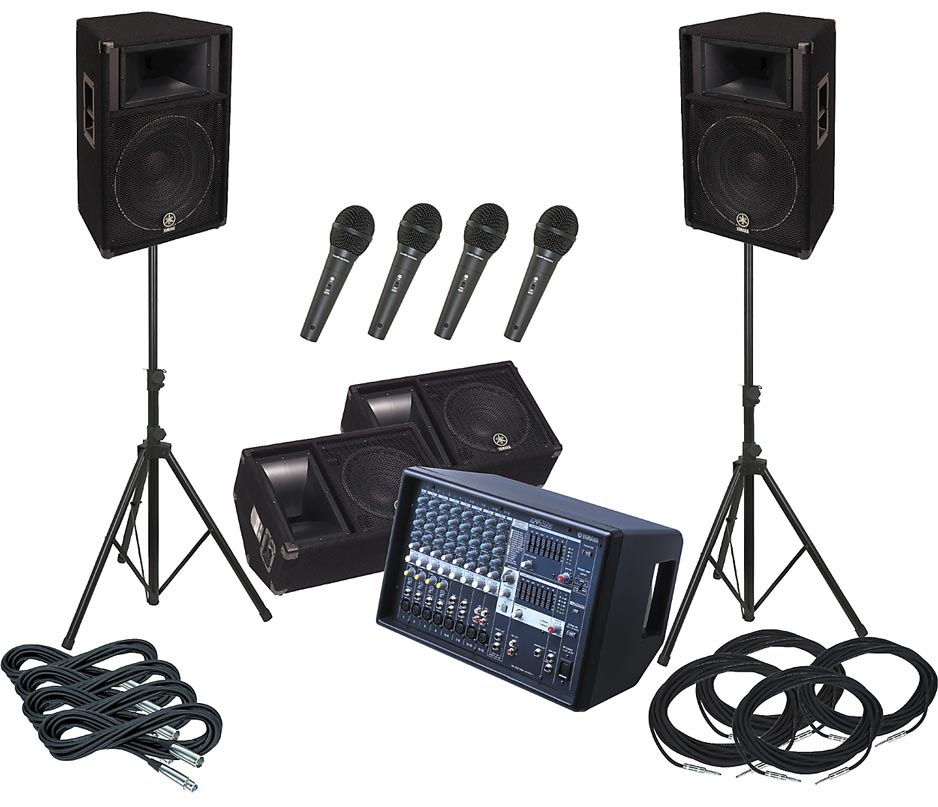 A full PA system - perfect for smaller gigs or larger rehearsals.