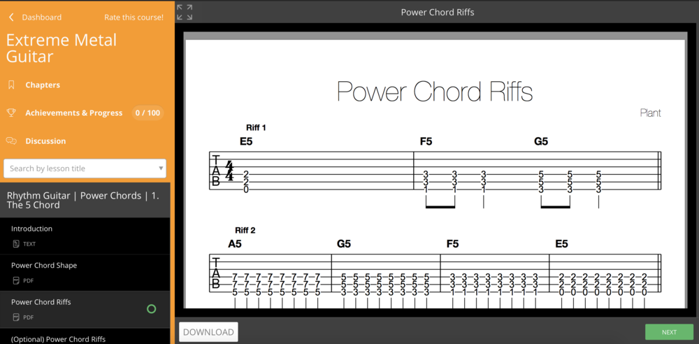 An intro to power chords.