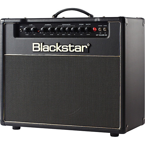 A Blackstar combo, which has a speaker built in.