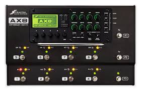 The Ax8 pedalboard - digital amp simulator and effects in one.