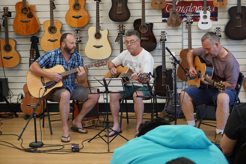 The WPAT - Wayne, Peter and Andy trio.