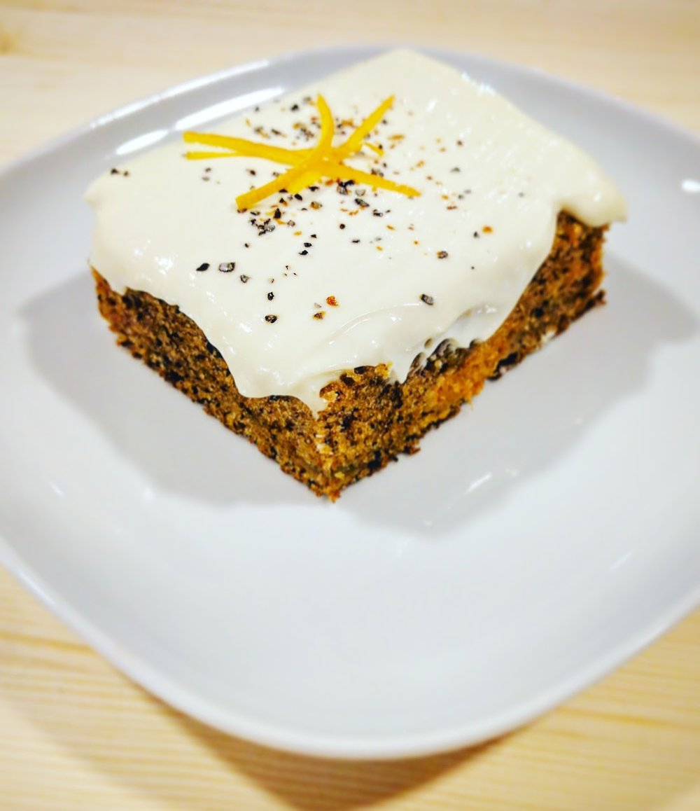 ZERO WASTE CARROT CAKE WITH GINGER, CARDAMOM & CINNAMON